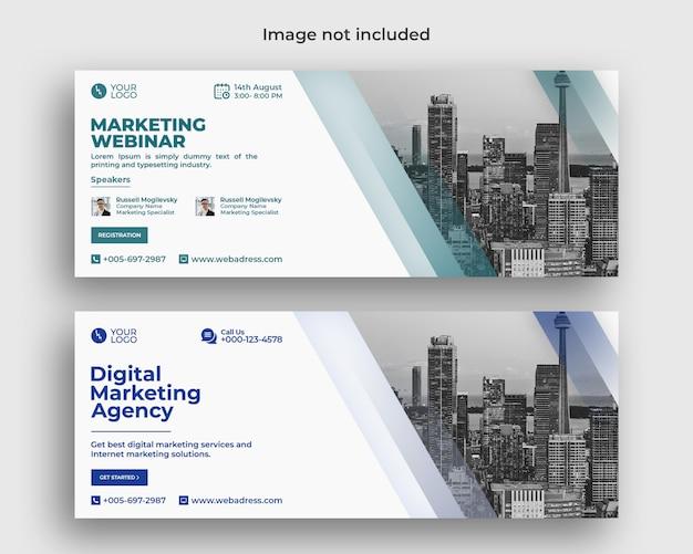 Conferência de webinar de negócios de marketing digital