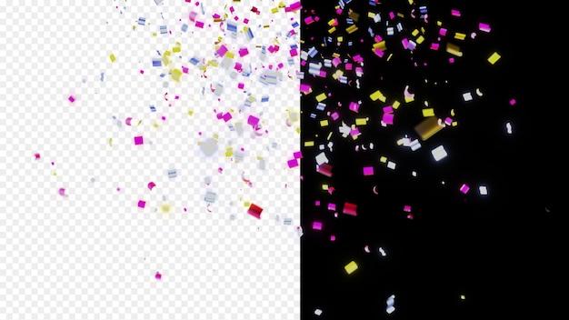 Confete colorido brilhante