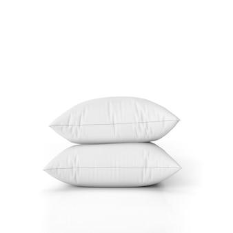 Conjunto de almofadas em branco isolado