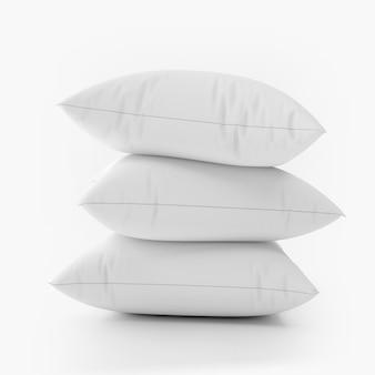 Conjunto de almofadas em branco