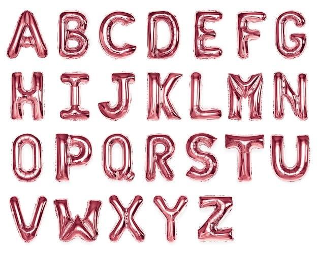 Conjunto de balões de alfabeto vermelho capital az