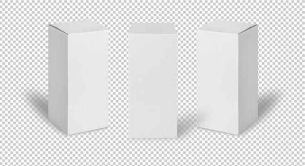Conjunto de caixas brancas
