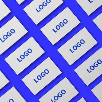Conjunto de design de maquete de cartão de visita
