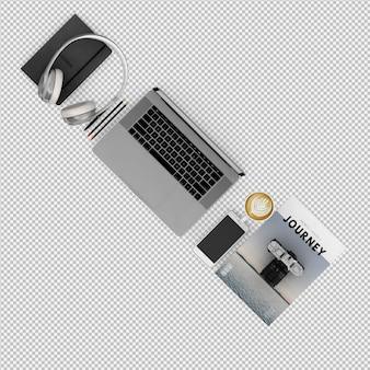 Conjunto de escritório e computador