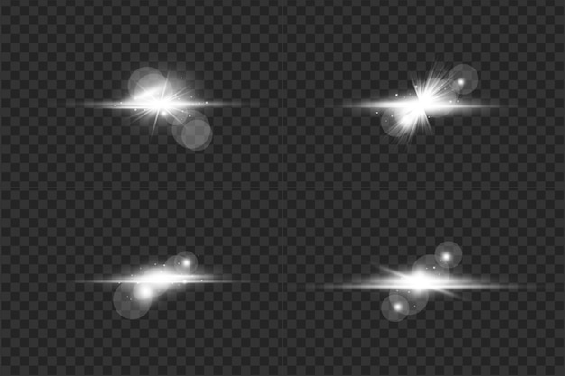Conjunto de flares de lente digital transparente