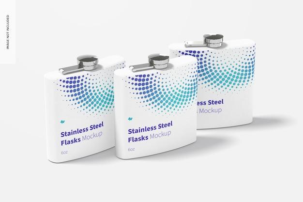 Conjunto de frascos de aço inoxidável com revestimento em pó