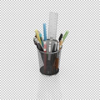 Conjunto de lápis isométricos