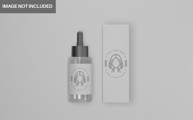 Conjunto de maquete cosmética de design 3d realista
