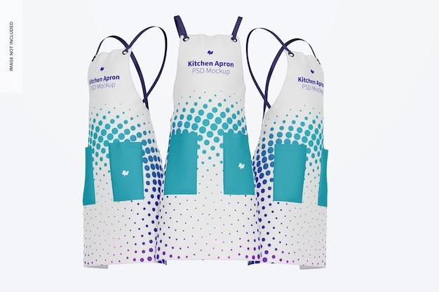 Conjunto de maquete de avental de cozinha