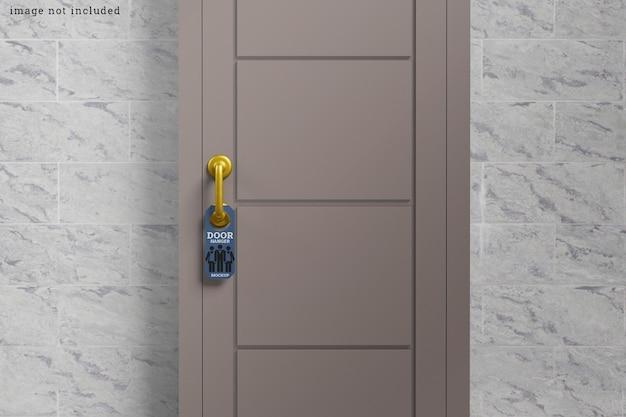 Conjunto de maquete de cabide de porta redonda