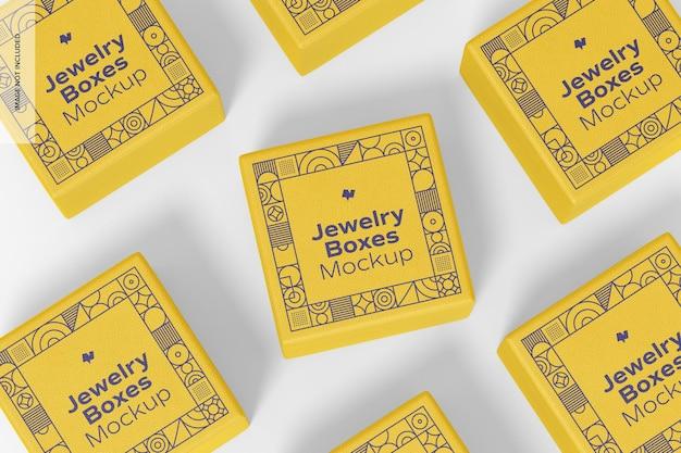Conjunto de maquete de caixas de joias