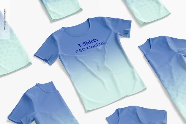 Conjunto de maquete de camisetas