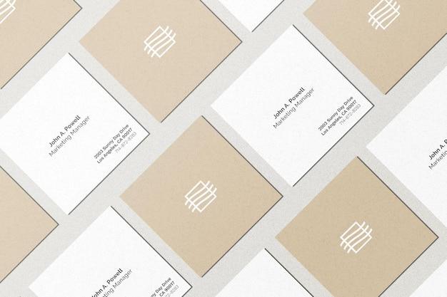 Conjunto de maquete de cartas quadradas