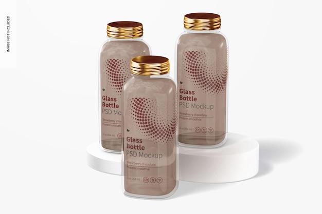 Conjunto de maquete de garrafa de vidro de 12 onças