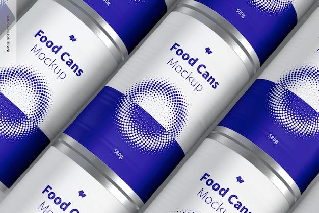Conjunto de maquete de latas de 580g