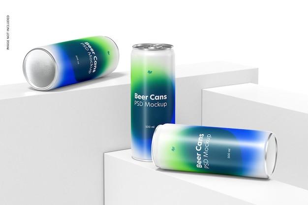 Conjunto de maquete de latas de cerveja de 500ml
