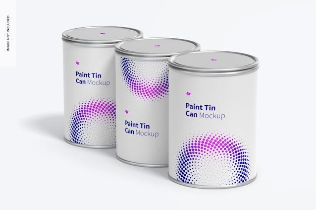 Conjunto de maquete de latas de tinta