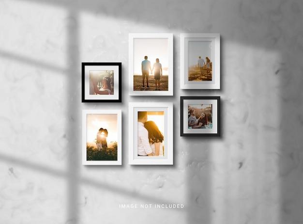 Conjunto de maquete de moldura de foto