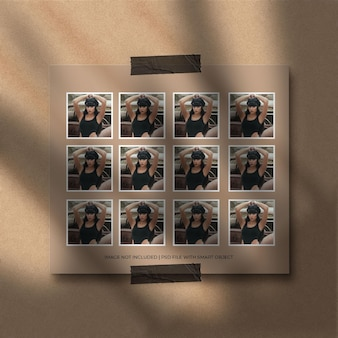 Conjunto de maquete de moldura de papel de retrato