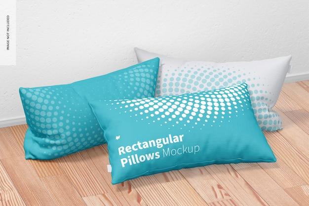 Conjunto de maquete de travesseiros retangulares