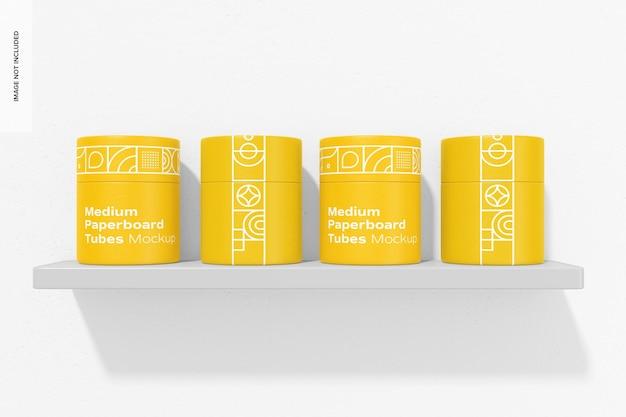 Conjunto de maquete de tubos de papelão médio