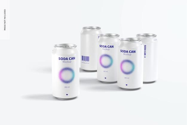Conjunto de maquete para refrigerante de 355 ml, vista frontal