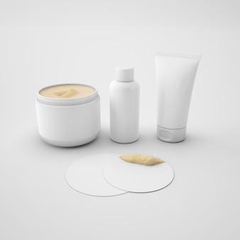 Conjunto de maquiagem e cuidados com a pele