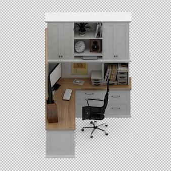 Conjunto de mobiliário de escritório