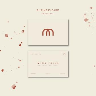Conjunto de modelo de cartão de loja de macarons