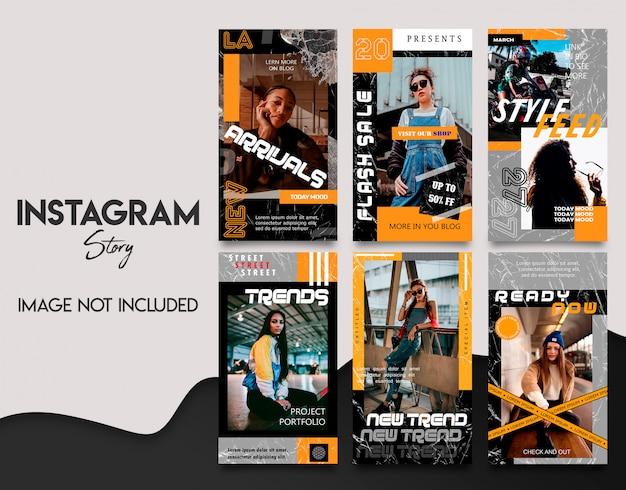 Conjunto de modelo de histórias criativas do instagram