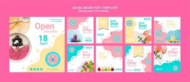Conjunto de modelo de postagem de mídia social
