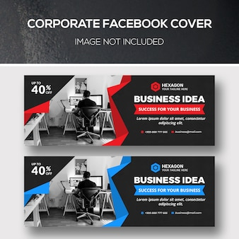 Conjunto de modelos de capa corporativa do facebook