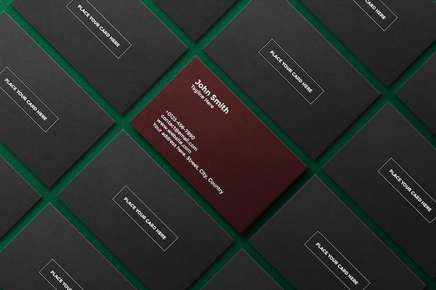 Conjunto de modelos de cartão de visita profissional