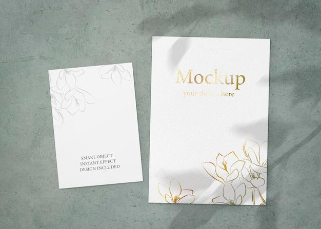 Conjunto de modelos de folhas a e a