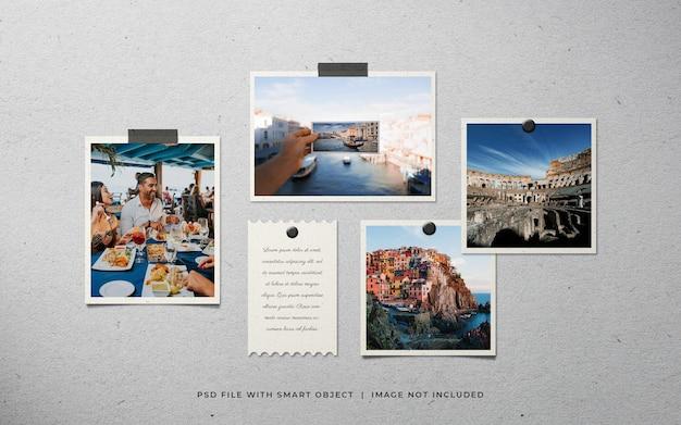 Conjunto de molduras para fotos de viagens