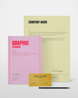 Conjunto de psd de maquete de identidade corporativa para empresas