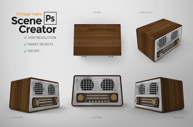 Conjunto de rádio vintage.
