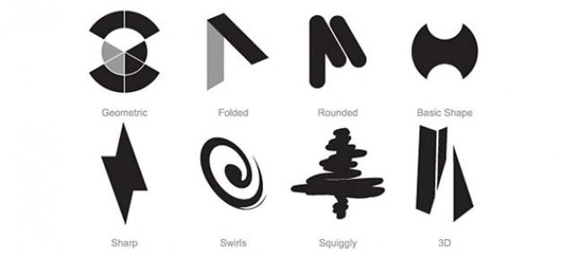 Conjunto modelo de livre logotipo