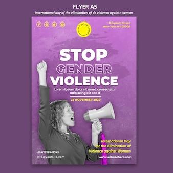 Conscientização da violência contra as mulheres panfleto a5