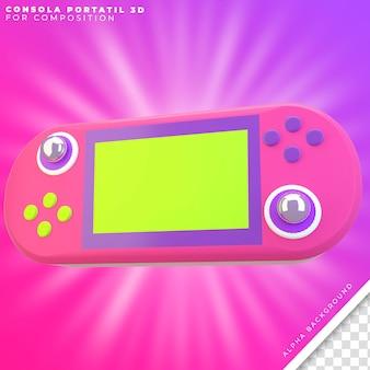 Console 3d portátil para composição