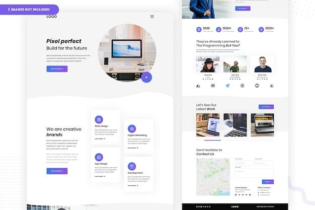 Construir modelo de página de site pixel perfect