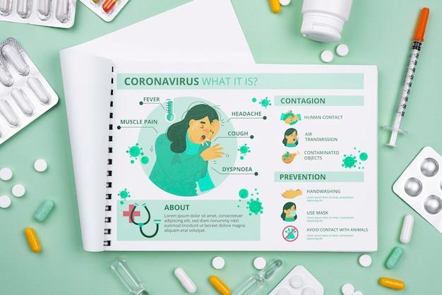 Consultório médico com notebook