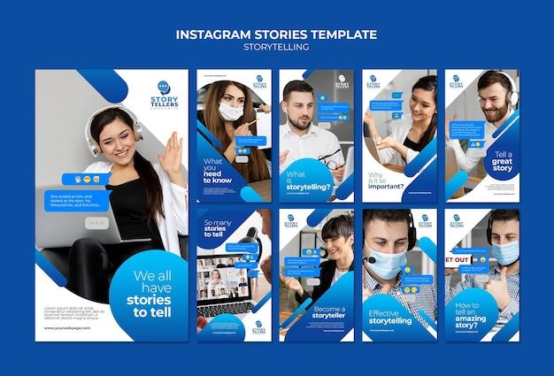 Contação de histórias para marketing de histórias do instagram