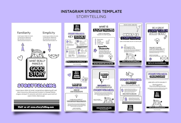 Contação de histórias para marketing de histórias do instagram