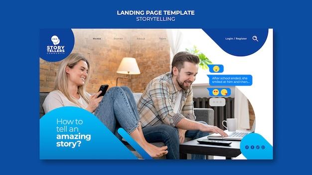 Contação de histórias para página de destino de marketing