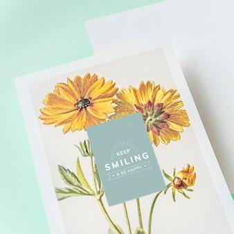 Continue sorrindo maquete de cartão