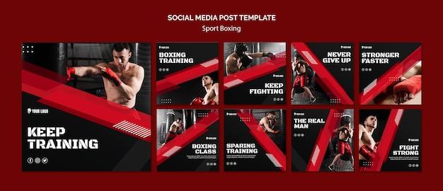 Continue treinando boxe nas redes sociais