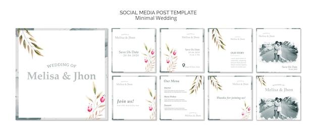 Convite de casamento de mídia social