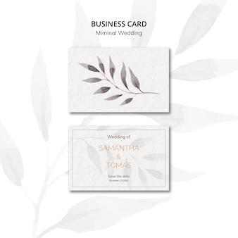 Convite de casamento mínimo cartão de visita