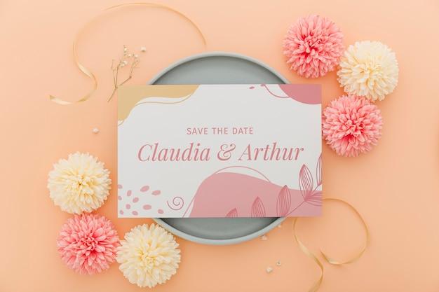 Convite de casamento plana leigos